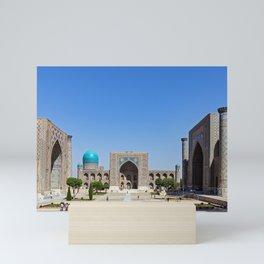 Uzbekistan, Samarkand: Registan Mini Art Print