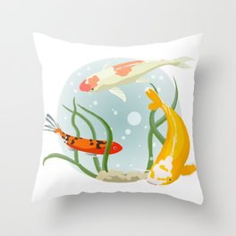 Three times coi Throw Pillow