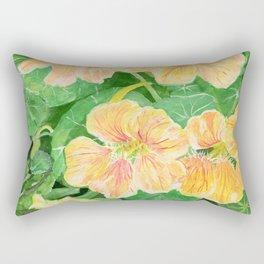 Nasturtium flowers in the garden Rectangular Pillow