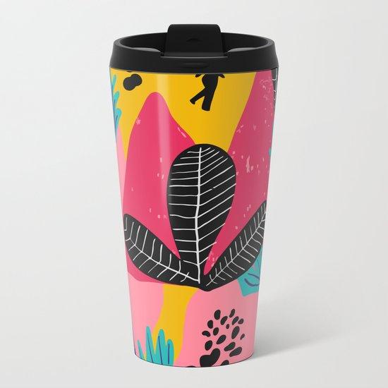 Colorful Forest Metal Travel Mug
