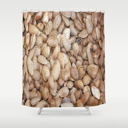 Harvested Almonds Shower Curtain