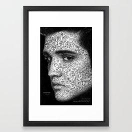 Tribute to Elvis Framed Art Print