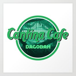 Cantina Cafe Dagobah Art Print