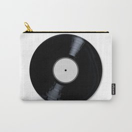 White Record Label Carry-All Pouch