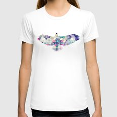 Hawk LARGE White Womens Fitted Tee