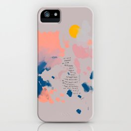 """""""It Was Here In The Setting Sun When The Day Was Almost Done, I Was Reminded Of All That Was Beautiful. I Was Reminded Of All That Was Holy."""" iPhone Case"""