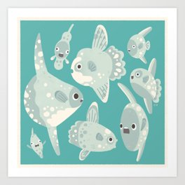 Mola mola Kunstdrucke