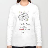 cassette Long Sleeve T-shirts featuring Cassette by Melis Kalpakçıoğlu