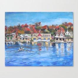Boathouse Row, Philadelphia Canvas Print