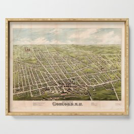 Bird's Eye View of Concord, New Hampshire (1875) Serving Tray