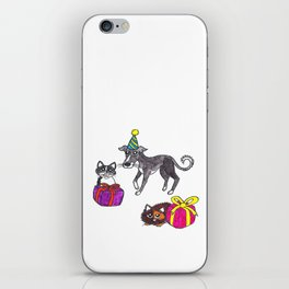 Pet party iPhone Skin
