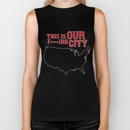 Boston Strong - This is our f***ing city - USA on dark Biker Tank