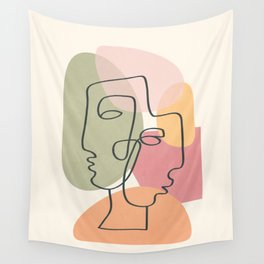 Abstract Profiles 04 Wall Tapestry