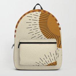 Geometric Sun Backpack