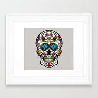 mexican Framed Art Prints featuring Mexican Skull by Pancho the Macho