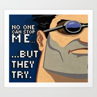 ben giles Art Prints featuring Ben by Be Yourself