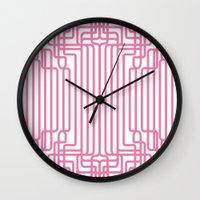 rockabilly Wall Clocks featuring rockabilly lines by La Señora