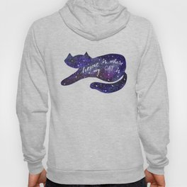 Watercolor Galaxy Cat - purple Hoody