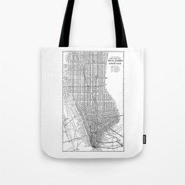 New York City Subway Map, New York City Art, Manhattan New York Tote Bag