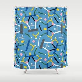 Ashoka Lamp Party Confetti Shower Curtain