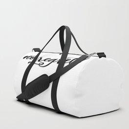 No regrets print Duffle Bag