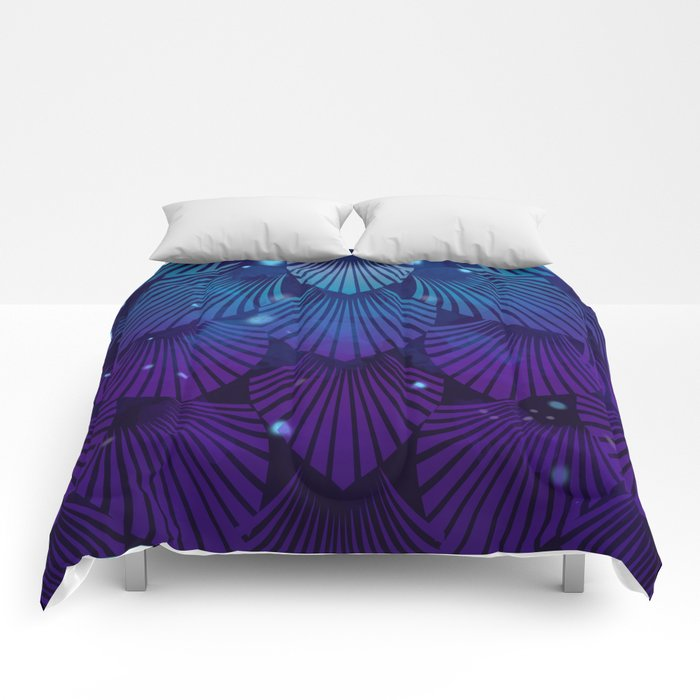 Variations on a Feather III - Raven Wing Deconstructed Comforters