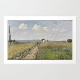 Camille Pissarro - Morning in June, Saint-Ouen-l'Aumône Art Print
