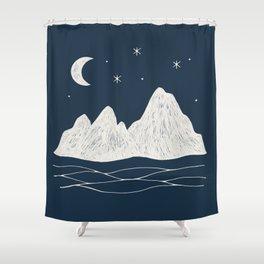 sonoran night Shower Curtain