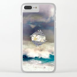 Maui Whales Clear iPhone Case