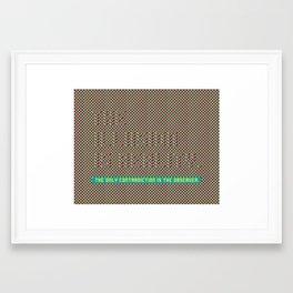 The illusion Framed Art Print