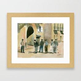 The Game of Pétanque Framed Art Print