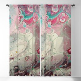 Windows of Memory - Abstract Acrylic Art by Fluid Nature Blackout Curtain