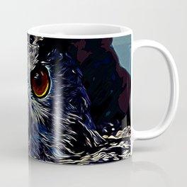 owl strix bird v2 vector art foggy night Coffee Mug