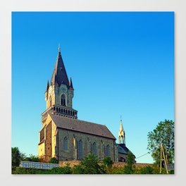 The village church of Haslach I   architectural photography Canvas Print