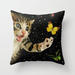 All Across the Universe Chasing Butterflies and Dreams Throw Pillow