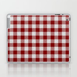 Maroon Buffalo Plaid Laptop & iPad Skin