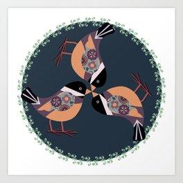 A Circle of fun Art Print