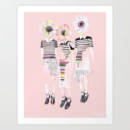 Jump Girls Art Print