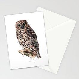 New Zealand Morepork Stationery Cards