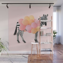 PARTY ZEBRA Wall Mural