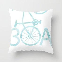 Watercolor 30A Bike Throw Pillow