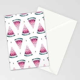 Lovely Watercolor Watermelon Pattern Stationery Cards