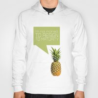 psych Hoodies featuring psych tv show... im not inclined to resign to maturity by studiomarshallarts