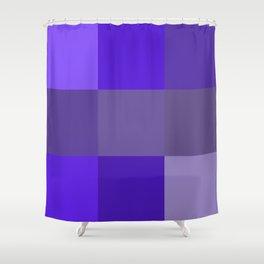 Purple fantasy grid Shower Curtain
