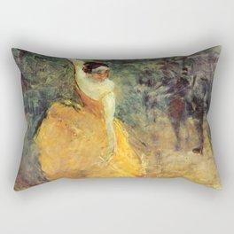 "Henri de Toulouse-Lautrec ""The Spanish Dancer"" Rectangular Pillow"
