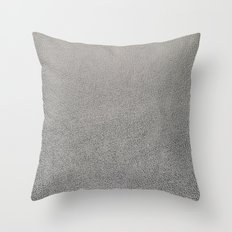 Silver leather texture Throw Pillow