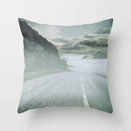 The Road and the Mountains Throw Pillow