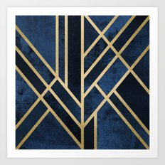 Art Deco Midnight Art Print
