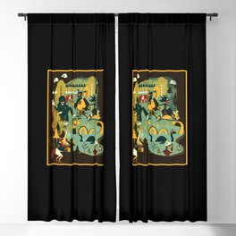 Crypster Coffee Shop Blackout Curtain