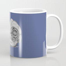 Barn Owl Skull Muted French Blue Coffee Mug